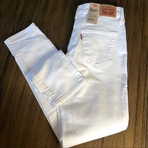 Levi's 311 white shaping skinny mid rise jeans